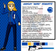 Red Dasher reference sheets- Hayley Roberts