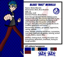 Red Dasher reference sheets- Blake Merolla