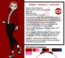 Red Dasher reference sheets- Robin Weaver