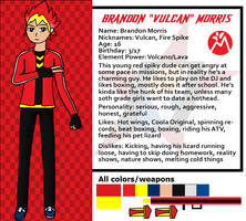 Red Dasher reference sheets- Brandon Morris