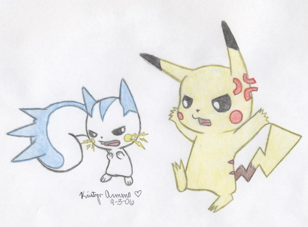 Pikachu Fights With Pachirisu  Pachirisu And Pikachu Love
