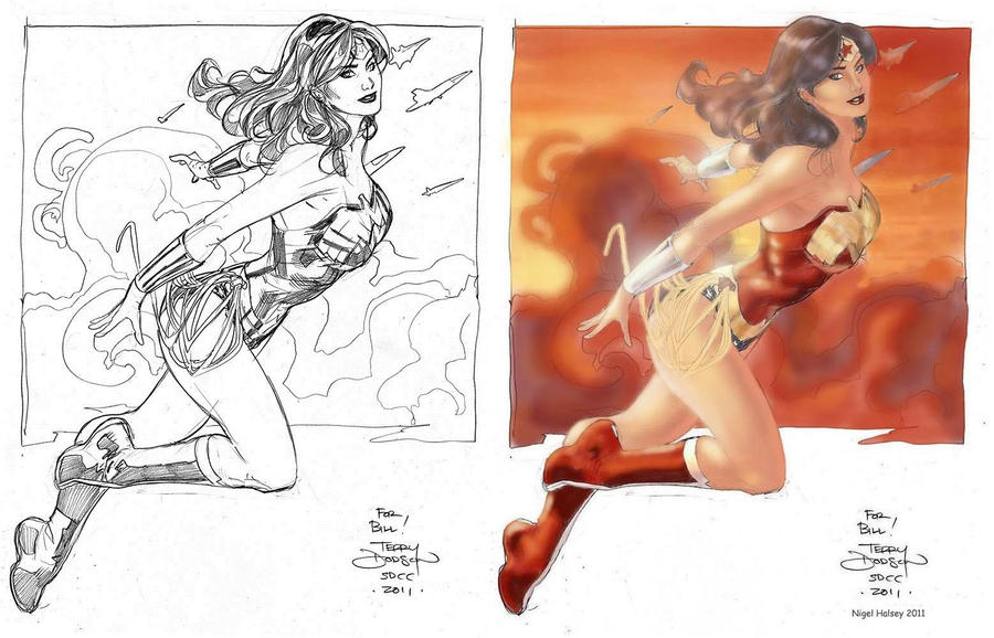 Wonder Woman by Terry Dodson by NigelHalsey