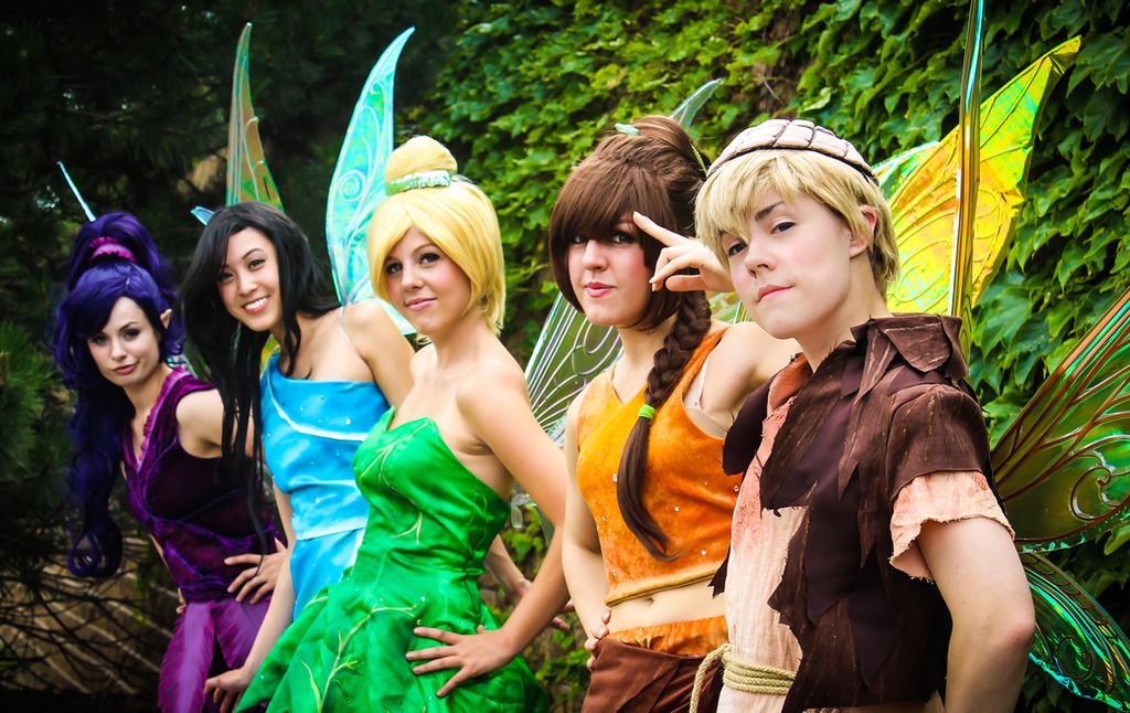 Pixie Hollow: Line up! by KoriStarfire