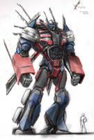 Optimus Prime.  Finished. by vijil