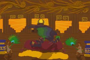 Aztec Dragon Throne Room