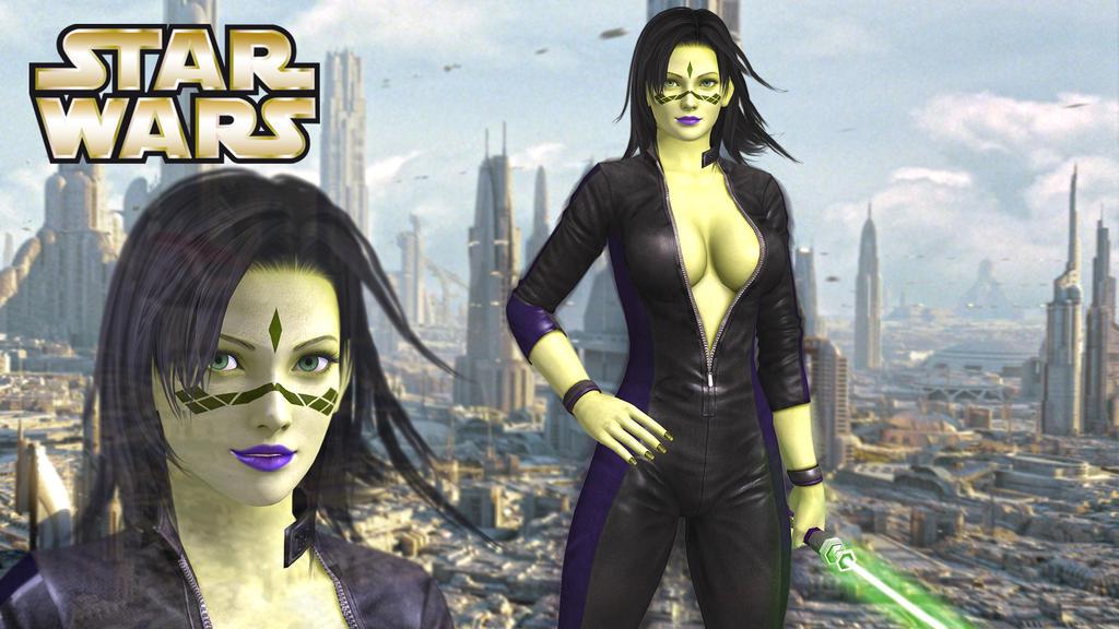 Star Wars Mirialan Girl by RogDaizer