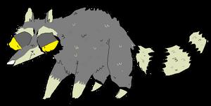 just a raccoon by kittysatannekoxxx666