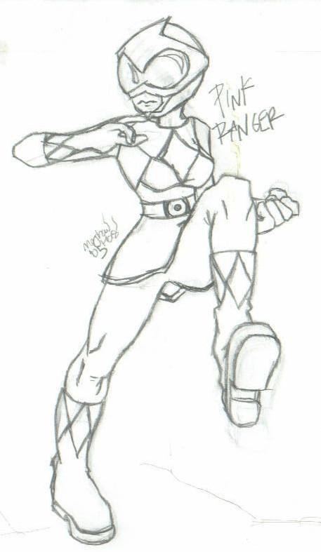 pink power ranger by psychochibi on deviantart