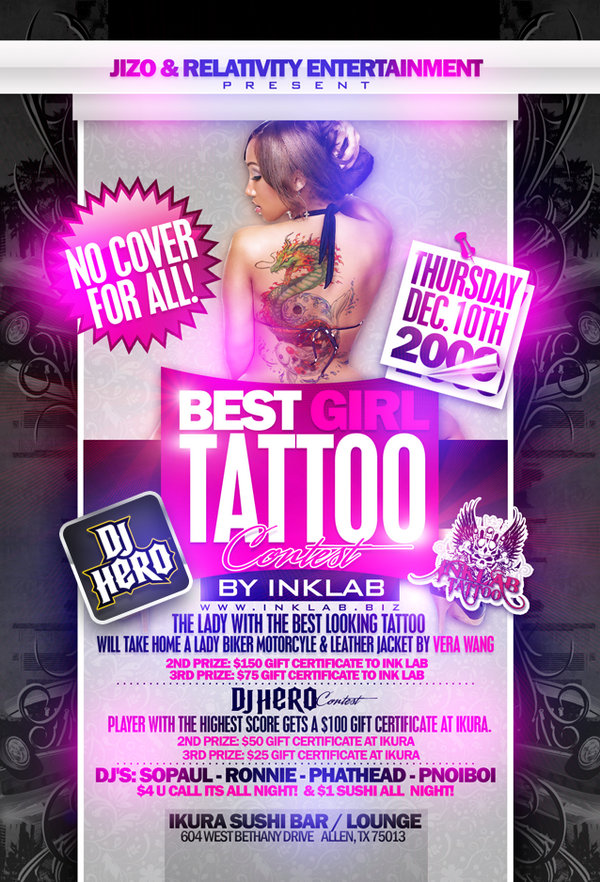tattoo party flyer by toxxic817 on deviantart. Black Bedroom Furniture Sets. Home Design Ideas