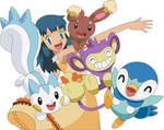 Vector Dawn and her Pokemon