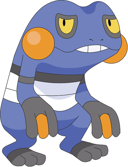Croagunk - PL Sprite to Anime by pokesafari