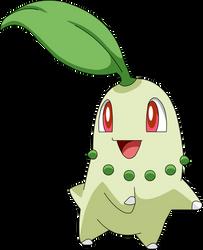 Chikorita HGSS Sprite to Anime by pokesafari