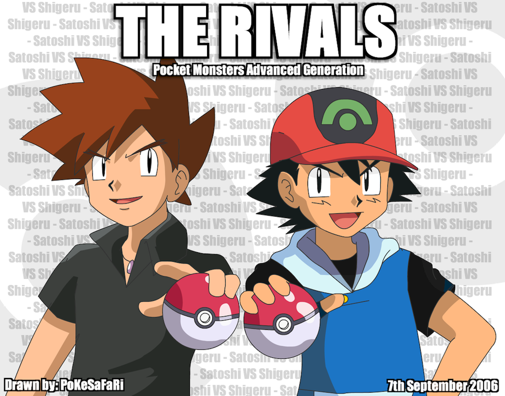 The Rivals - Ash and Gary by pokesafari on DeviantArt