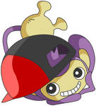 Aipom with Ash's hat