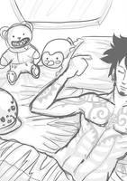 Law sleeping sketch by RaffaDChan