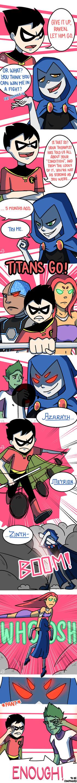 Titans: Refuge in Arkham #5 by samarasketch