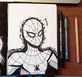 inktober'18 day 2: yes i draw marvel too by samarasketch