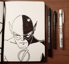inktober'18 day nine: Barry Allen by samarasketch