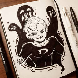 inktober'18 day ten: Danny Phantom by samarasketch