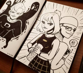 inktober'18 day eleven: Ghost Busters by samarasketch