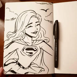 inktober'18 day twenty-two: Supergirl by samarasketch