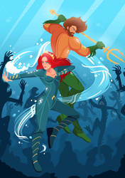 Aquaman and Mera by samarasketch