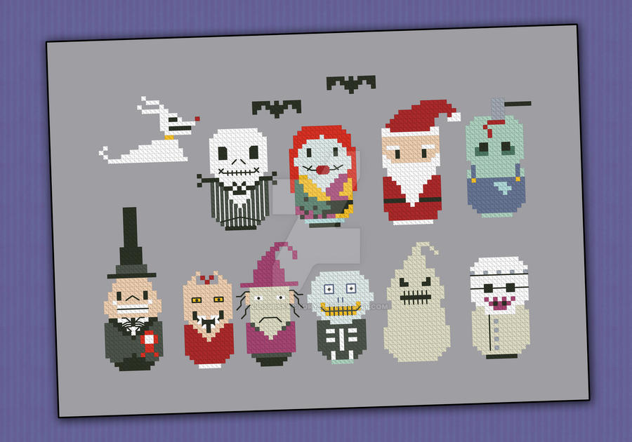 Mini People - Nightmare Before Christmas by cloudsfactory on ...