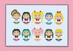 Mini People - Sailor Moon cross stitch pattern