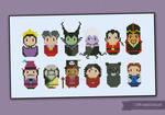 Mini People - Disney Villains cross stitch pattern