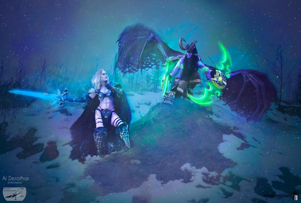 Lich Queen vs Lady Illidan by Luniwenor