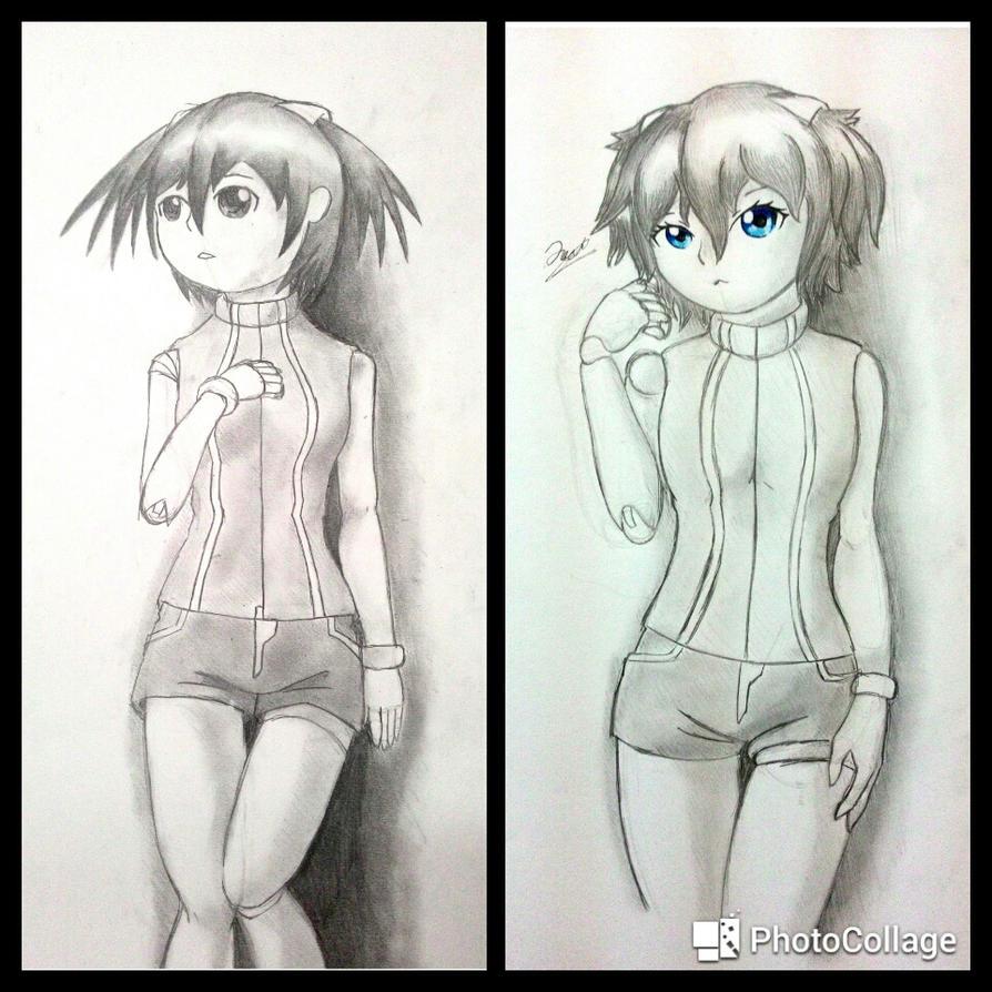 My OC Miyano (2015 and 2017) by KirisakiJake