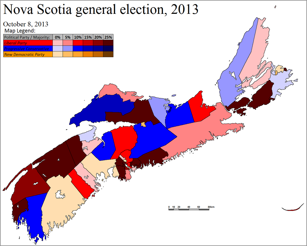 Nova Scotia General Election 3rd October 2013 by ...