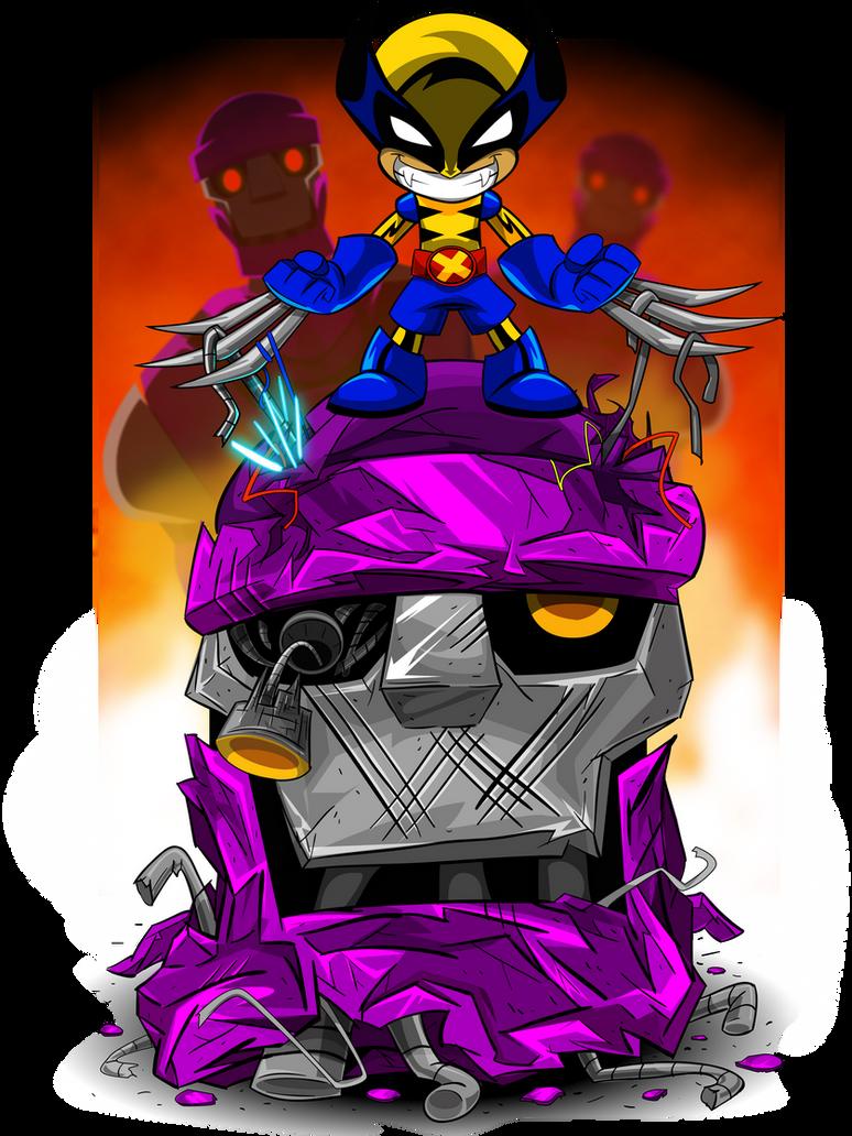 Wolverine Sentinal Battle by kudoze