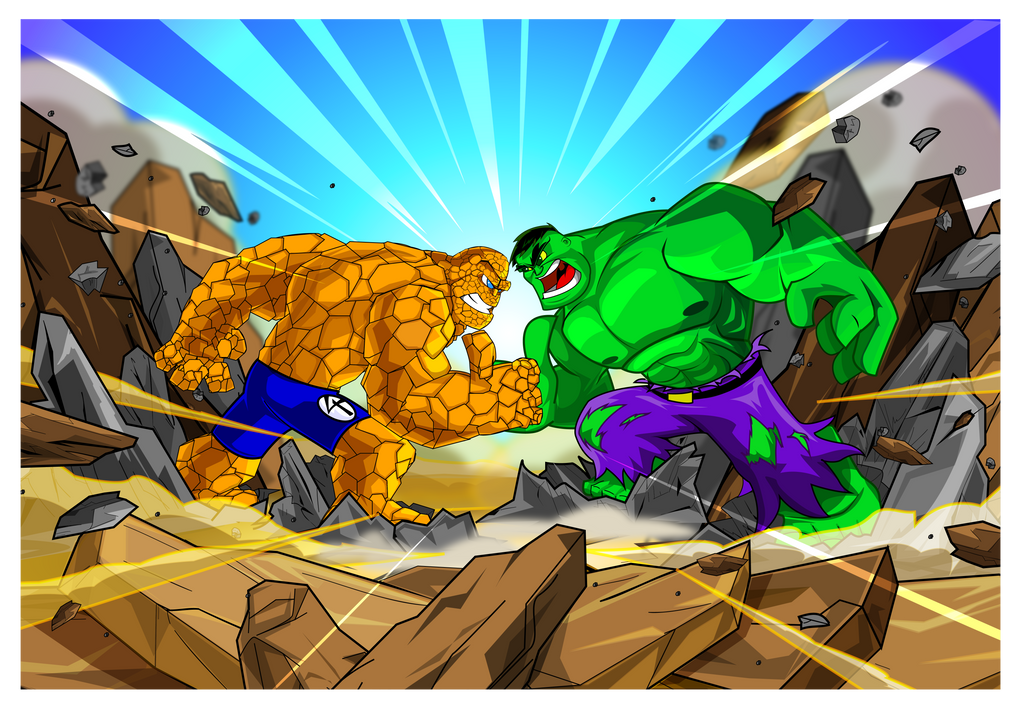 Thing Hulk Thumb Wrestling by kudoze