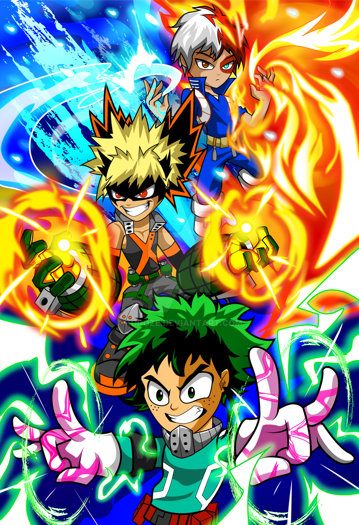 My Hero Trio by kudoze