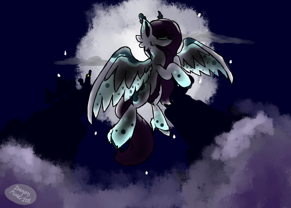 With the Moon On My Wings {COMMISSION} by Ne-wt