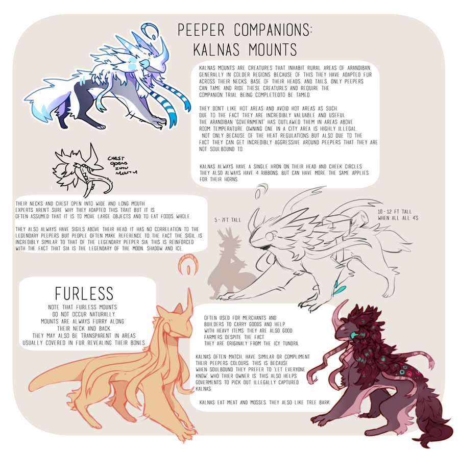 Kalnas Mount Species Sheet by DragonMiner101