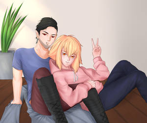 Contest Entry Finish Kei and Dimitri by Dioneiker