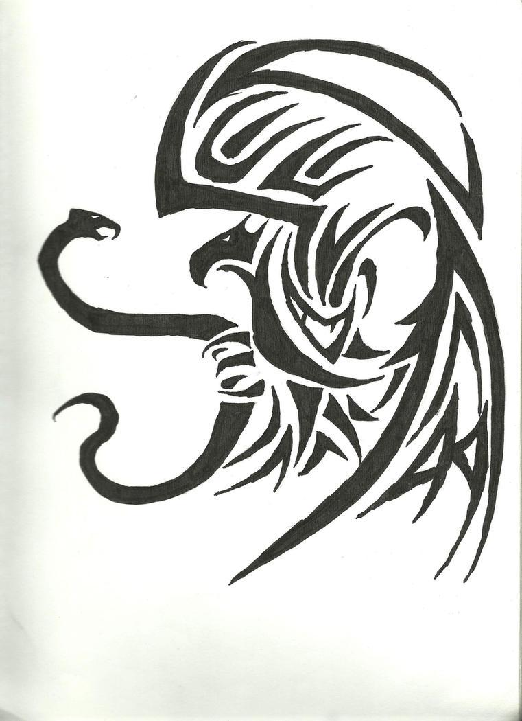 Tribal Mexican Eagle by jando-esca on DeviantArt