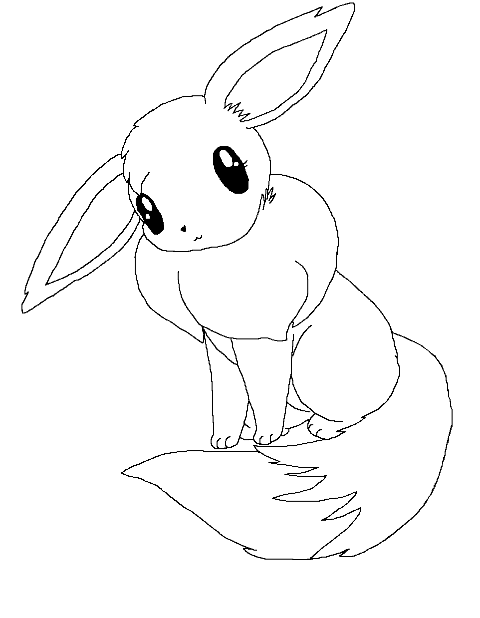 Coloring pages yorkie -  Eevee Template By Snow White Yorkie