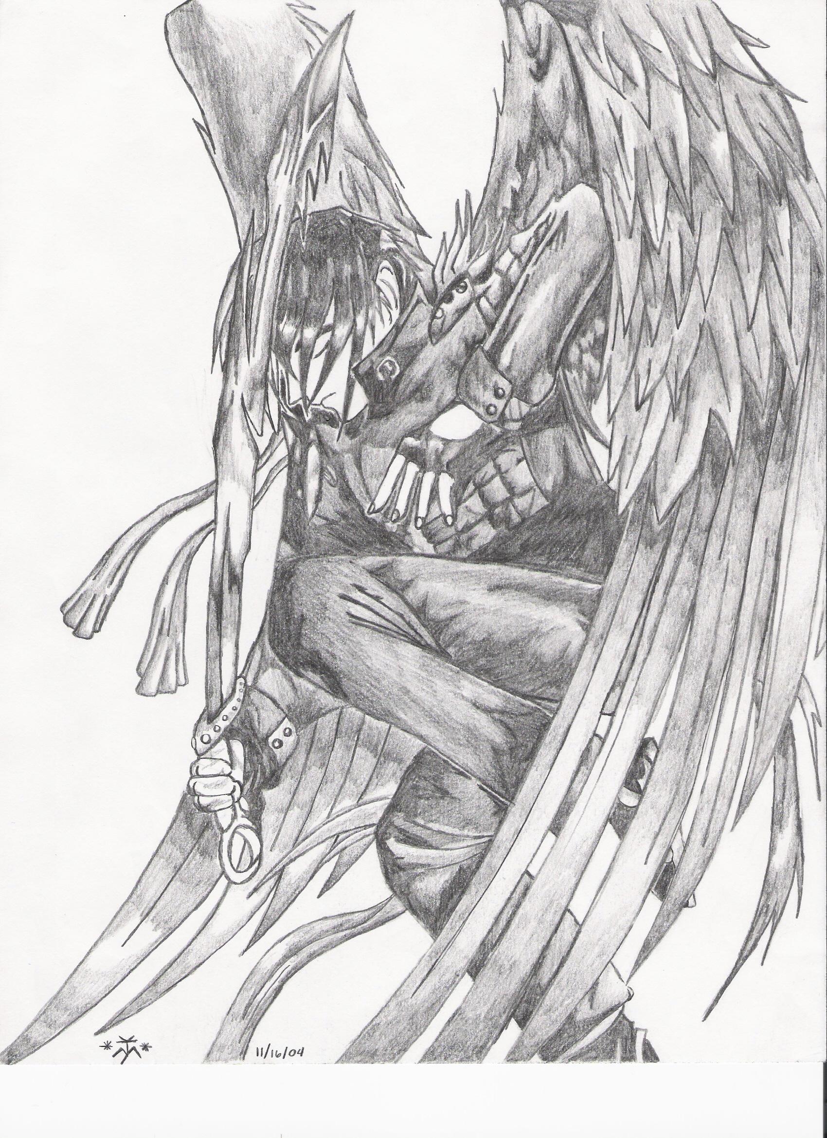 angel warrior by jay81 manga anime traditional media drawings 2004 ...
