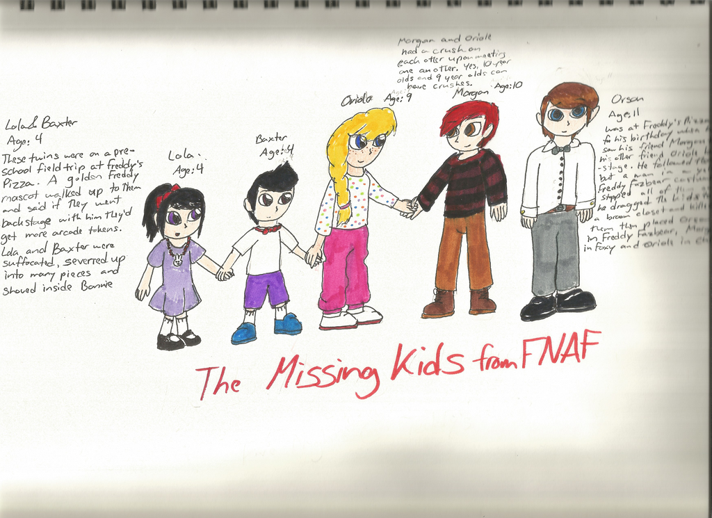 Five Missing Kids Fnaf Fanart By Missluckychan29 On