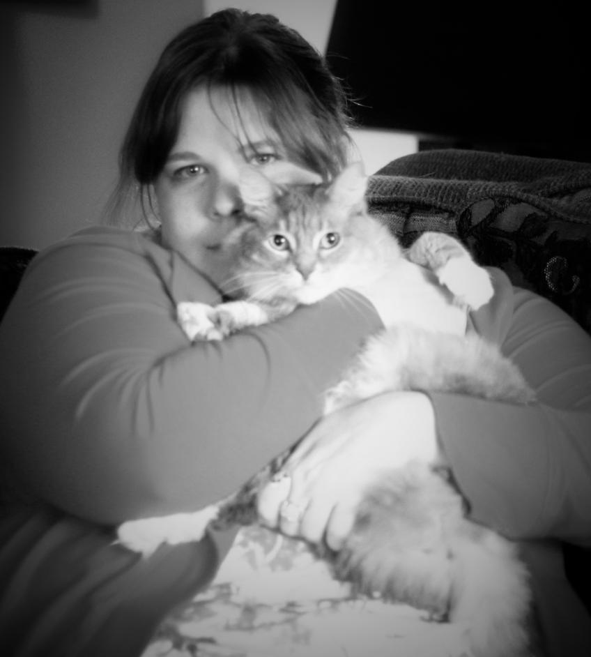 People and Their Pets:  Tricia and Boo Boo by pinknfuzzy4711