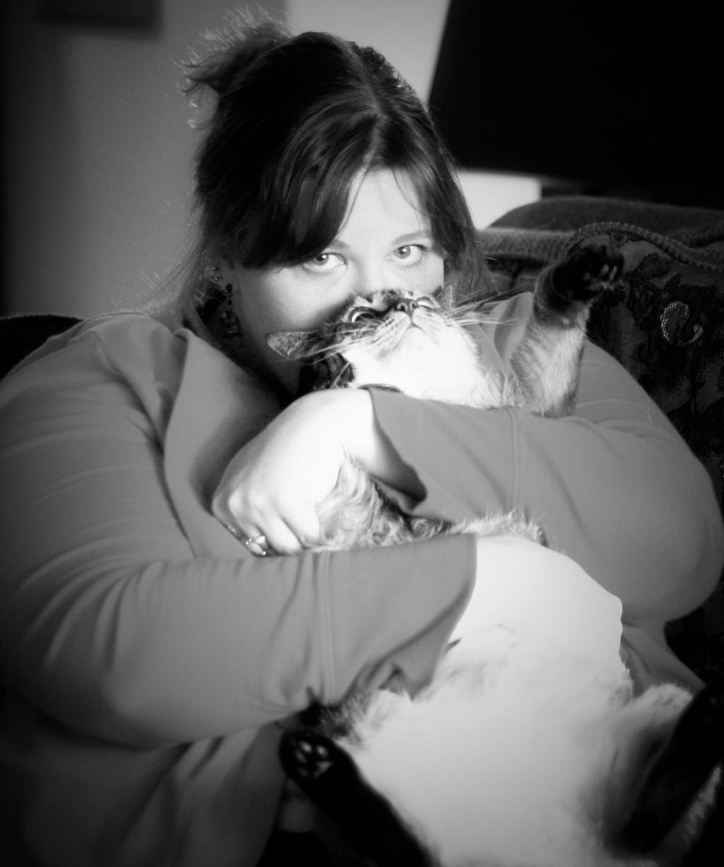People and Their Pets:  Tricia and Esmie by pinknfuzzy4711