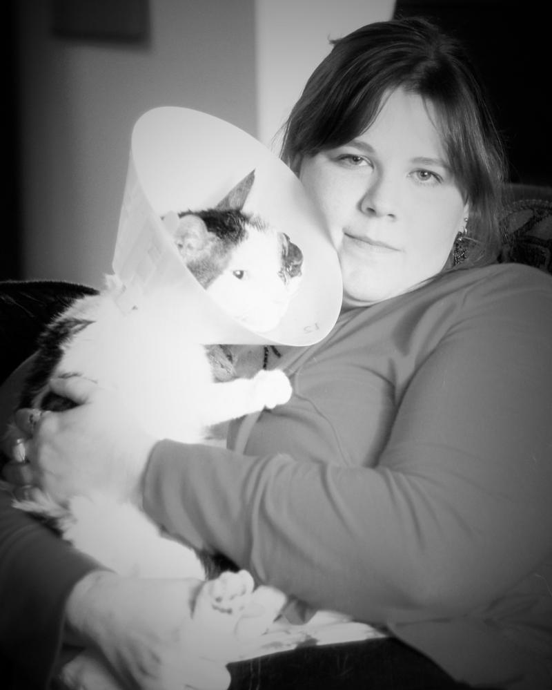 People and Their Pets:  Tricia and Moe by pinknfuzzy4711