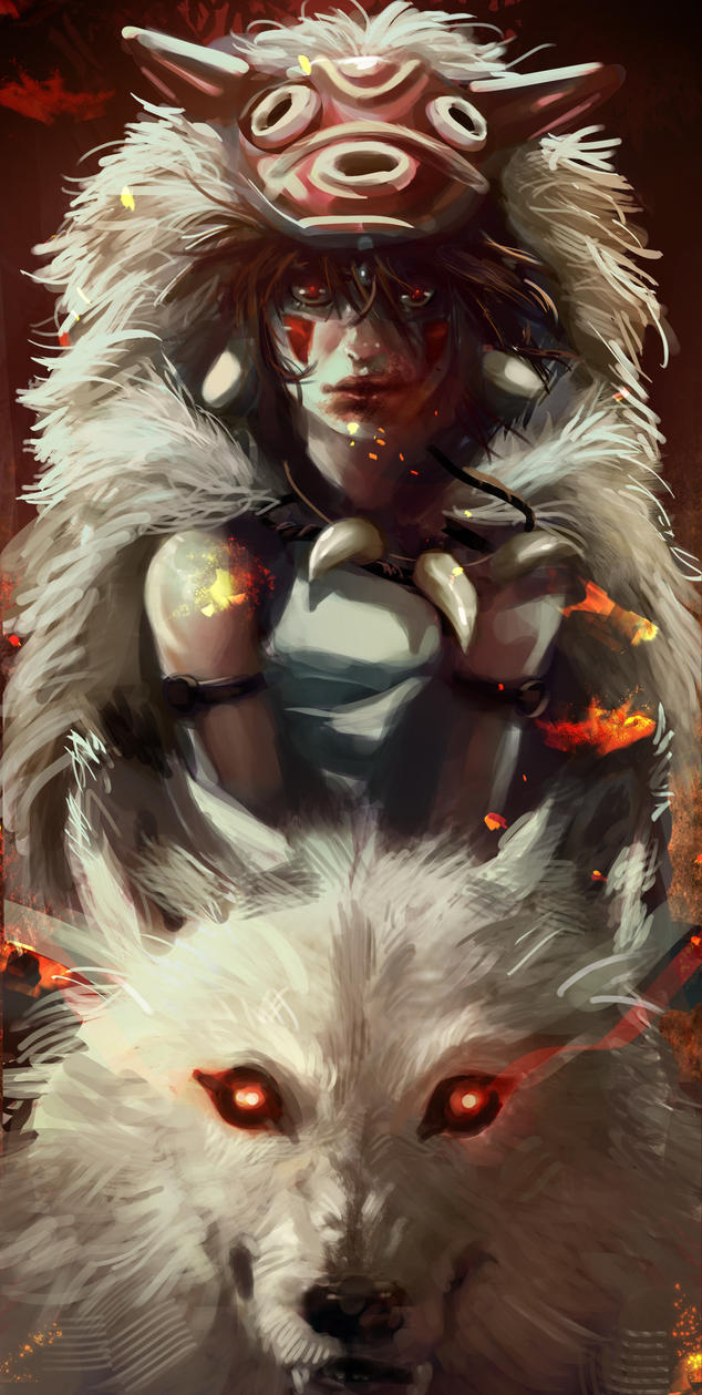 The one princess to rule them all. (Mononoke WIP) by leopinheiro