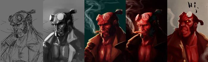 Hellboy Process by leopinheiro