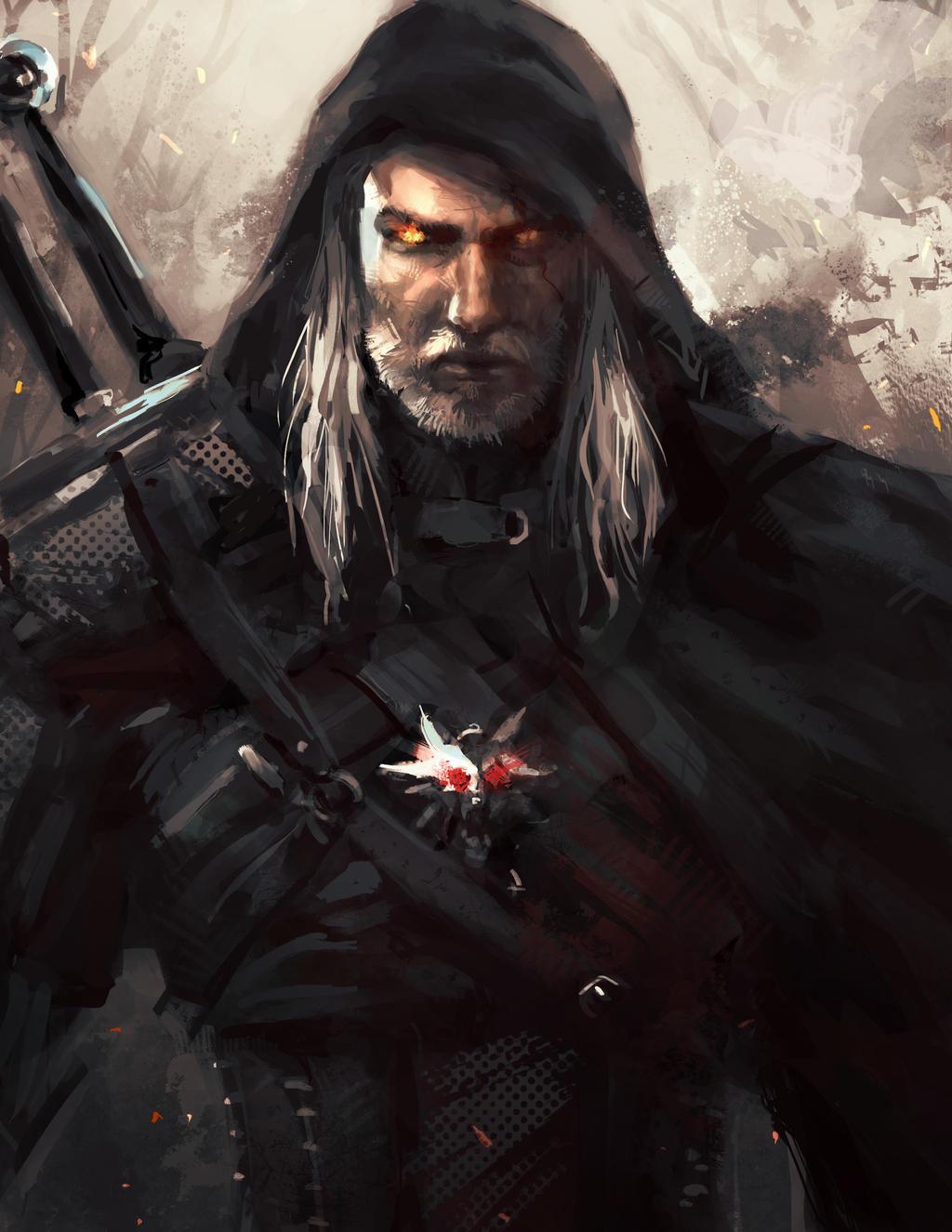 ✮ SPIRIT BRINGERS: THE SIDER STORIES (ANTES LABERINTO DE LA DEMENCIA ☠) - Página 5 Geralt_of_rivia_by_leopinheiro-d84j1ir
