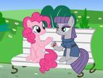 Pinkie pie and Maud pie