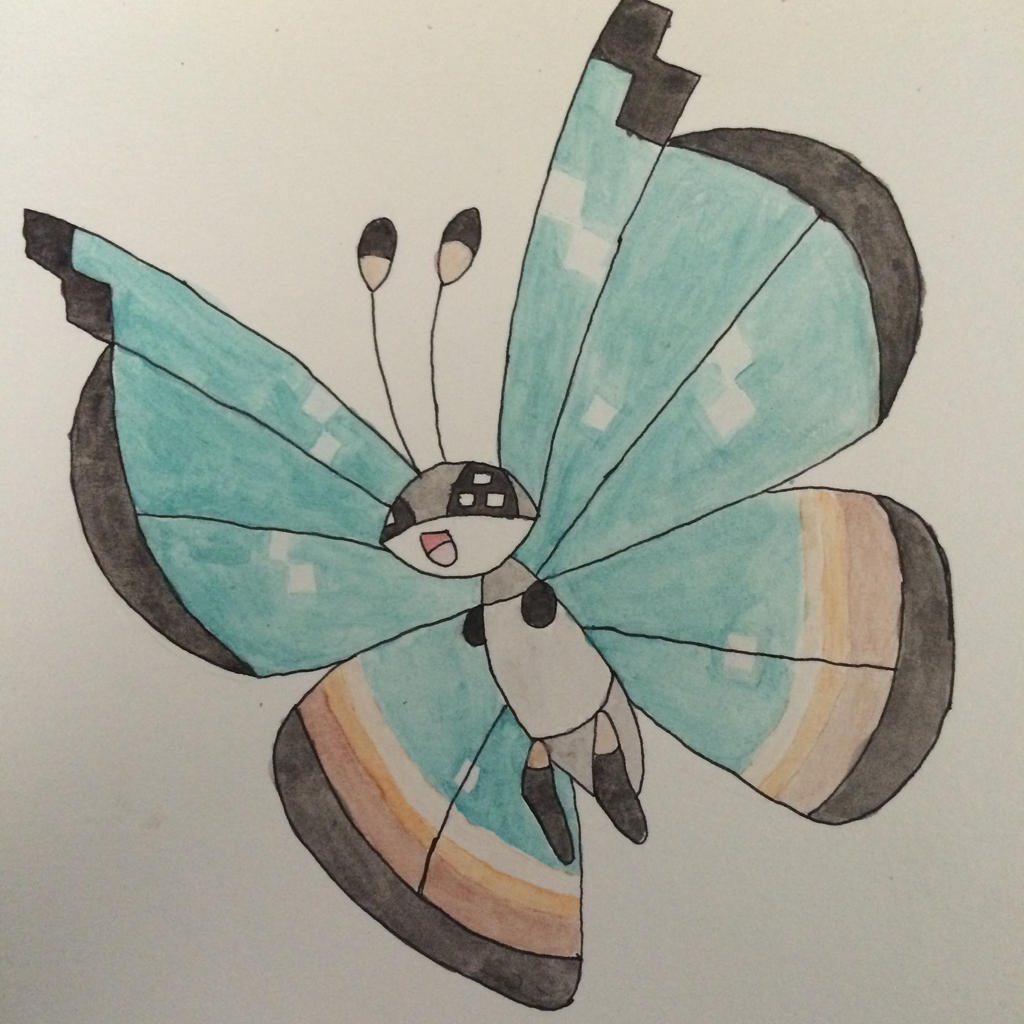Vivillon Watercolor: Jungle by mashonem